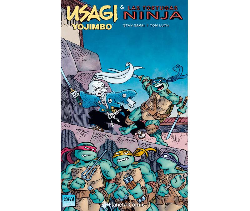 Portada de 'Usagi Yojimbo & las Tortugas Ninja'