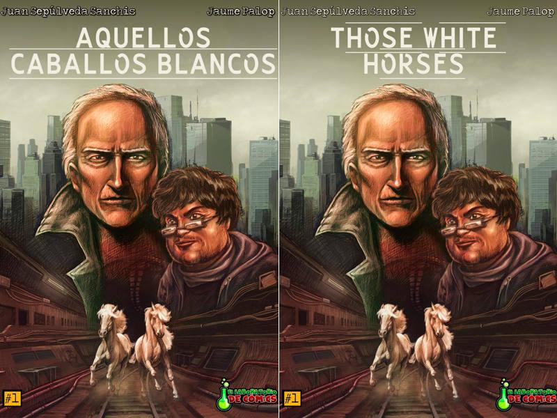 Portadas americana y española de 'Those White Horses' (Aquellos caballos blancos)