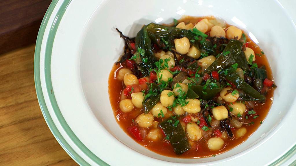 Torres en la cocina - Potage vegetariano de garbanzos