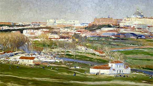 Mirar un cuadro - La pradera de San Isidro (Aureliano de Beruete y Moret)