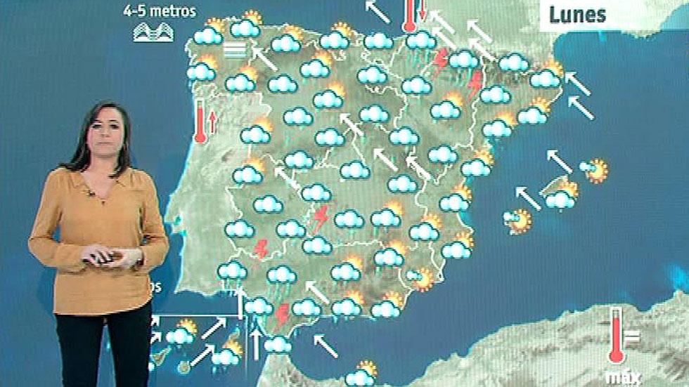 Las precipitaciones persisten con temperaturas en descenso en el interior peninsular y Canarias