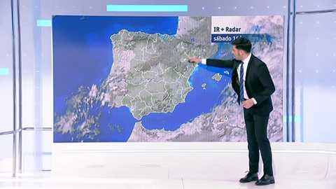 Precipitaciones persistentes en Cantábrico y chubascos en el este y Andalucía