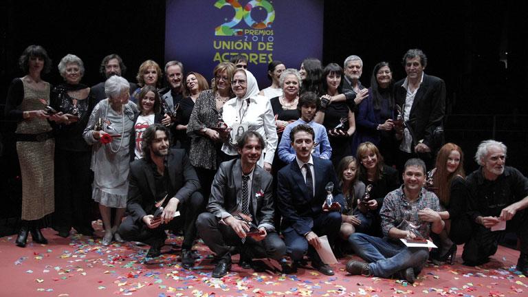 Anoche en Madrid se celebraron los premios de la Unión de Actores