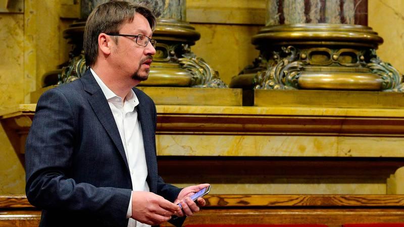 El presidente del grupo parlamentario de Catalunya en Comú-Podem, Xavier Domènech.