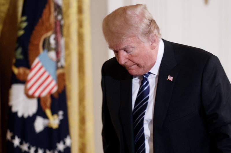 El presidente de Estados Unidos, Donald Trump, tras enterarse del tiroteo en Texas