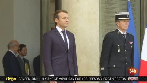 El presidente Macron cumple un año de mandato con su imagen deteriorada