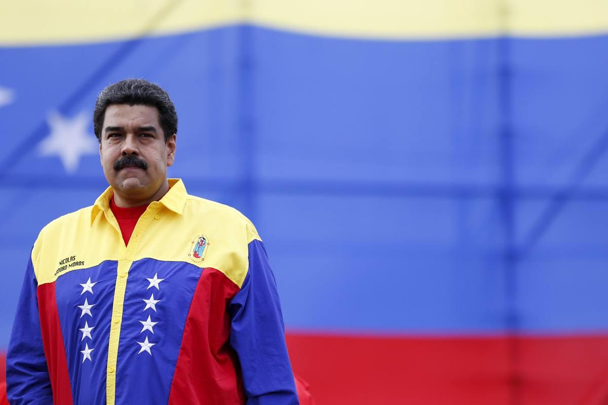 El presidente de Venezuela, Nicolás Maduro, en el mitin de final de campaña de la coalición chavista