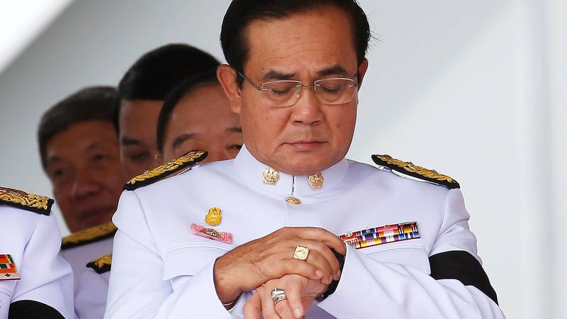 El primer ministro tailandés, Prayut Chan-o-cha, en una ceremonia el Bangkok