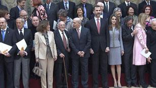 Los príncipes de Asturias entregan los Premios Nacionales de Cultura 2011 y 2012