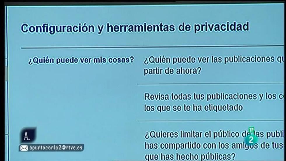 A punto con La 2 - Redes sociales: privacidad en Facebook