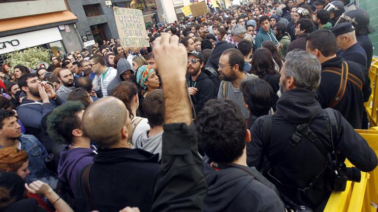Protesta contra Wert en La Laguna