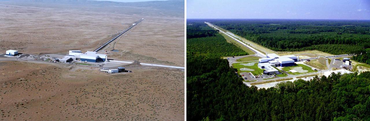 El proyecto estadounidense LIGO consta de dos observatorios: Livingston y Hanford.