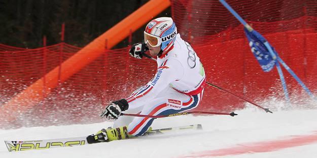 El esquiador francés Thomas Fanara durante la final de la prueba por equipos