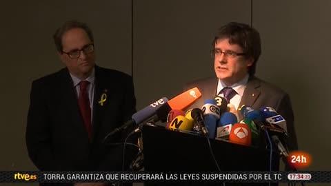 """Puigdemont: """"Torra tomará sus propias decisiones"""""""