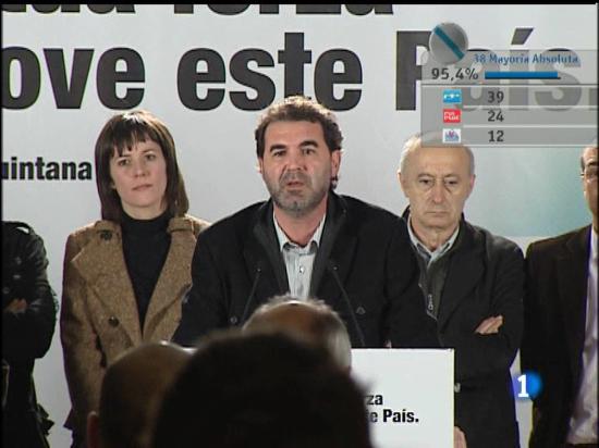 Anxo Quintana asume la victoria del PP y asegura que se abre una nueva etapa en Galicia