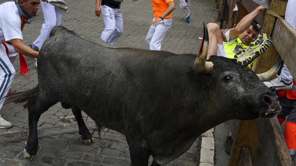 Quinto encierro de San Fermín 2015 con toros de José Escolar