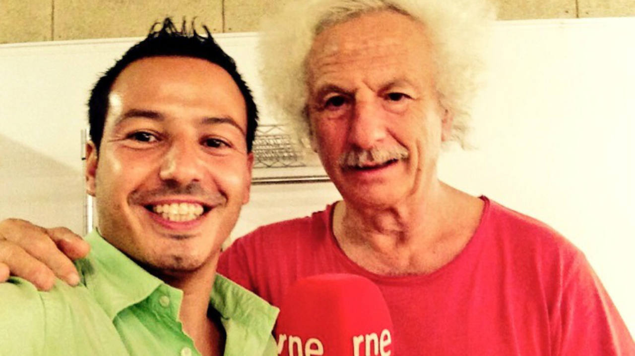 Rafael Álvarez 'El brujo' y Jorge García Palomo