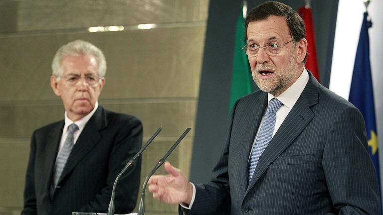 Rajoy y Monti creen que la declaración del BCE es positiva