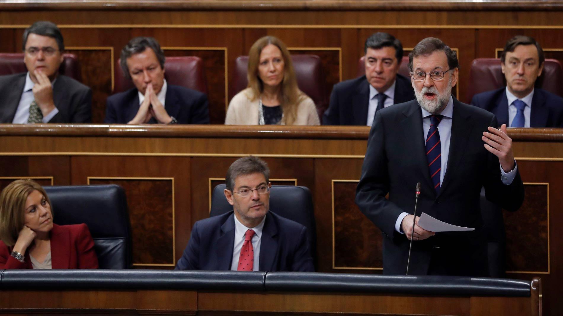 """Rajoy, a Rufián: """"Si ustedes ganan las elecciones, solo tienen que gobernar y respetar la legislación"""""""