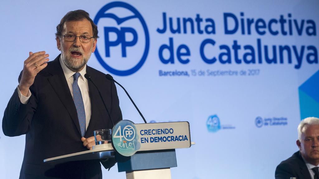 """Rajoy: """"Si en 48 horas no hay un compromiso de cumplimiento de la ley, los pagos de la Generalitat los hará el Gobierno de España"""""""