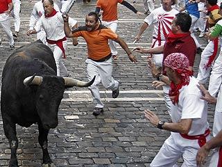 Rapidísimo y limpio quinto encierro de San Fermín 2011