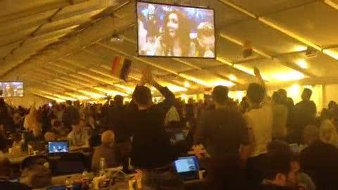 Eurovisión 2014 - Reacción sala de prensa de Copenhague