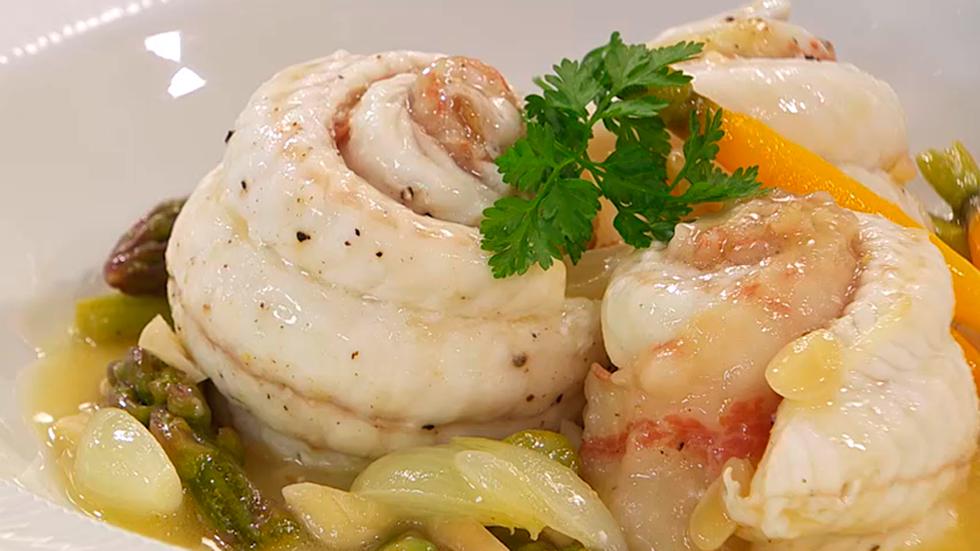Torres en la cocina - Receta de lenguado relleno de verduras