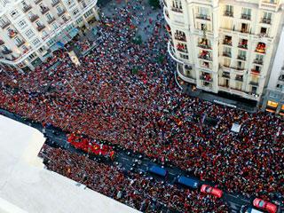 Dos millones de personas recibieron a la Selección Española de Fútbol en Madrid