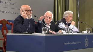 Higgs, Englert y Hauer hablan de los recortes en ciencia