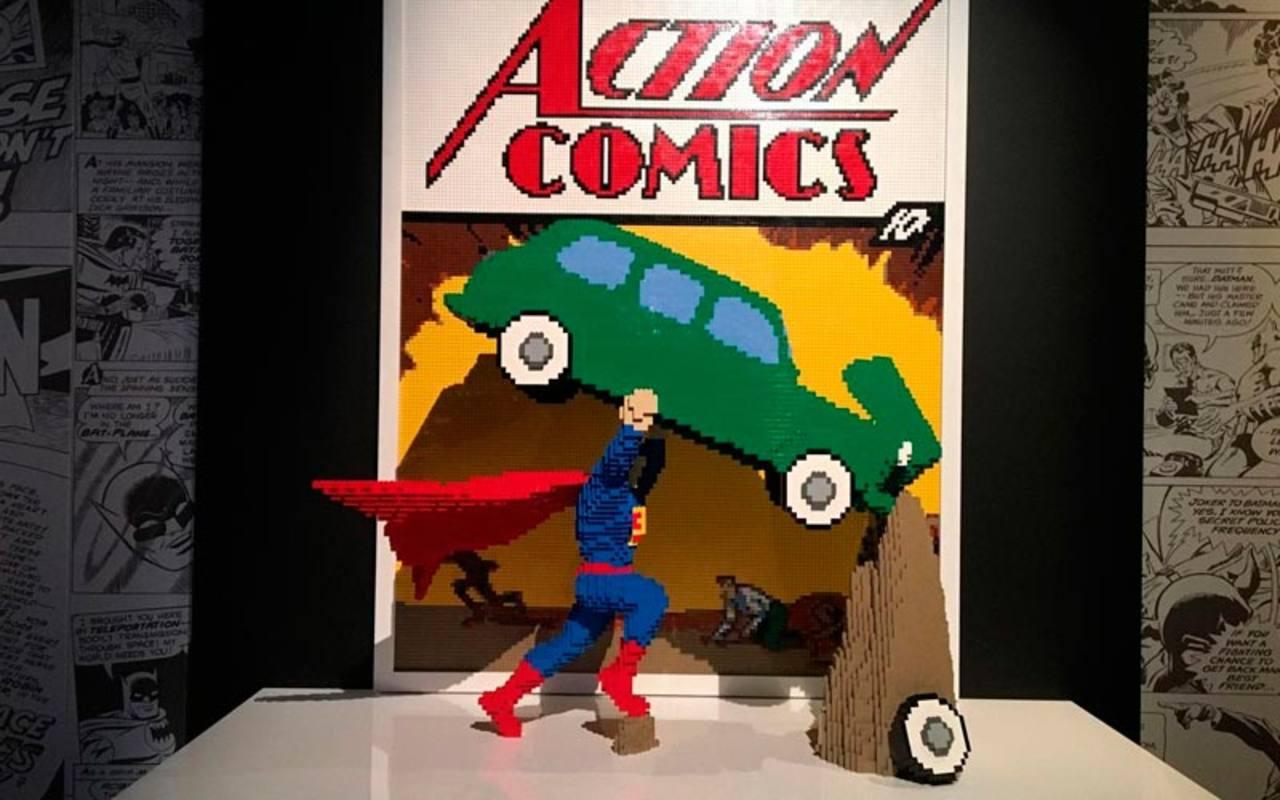 Recreación de la portada del nº 1 de 'Action comics', la primera aparición de Superman