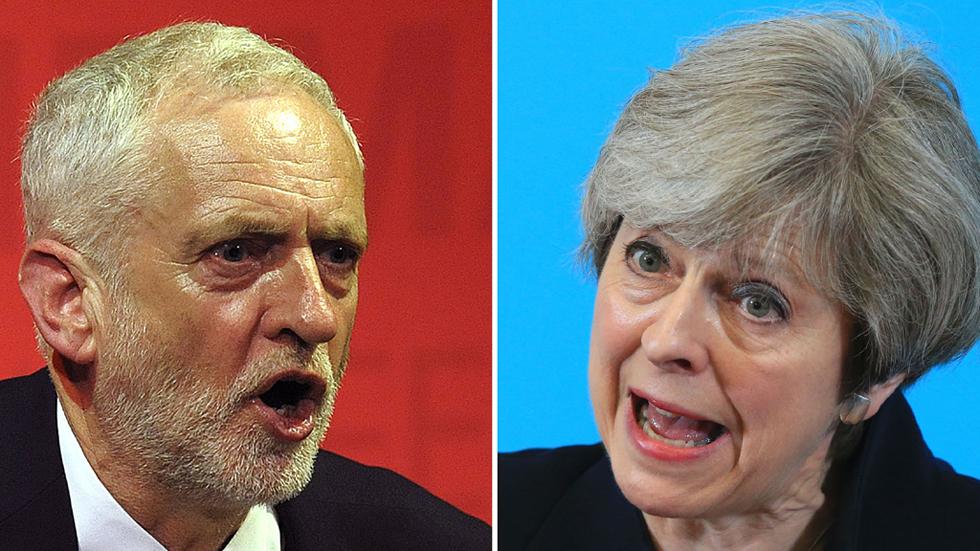 May y Corbyn enfrentan la recta final para las elecciones anticipadas británicas
