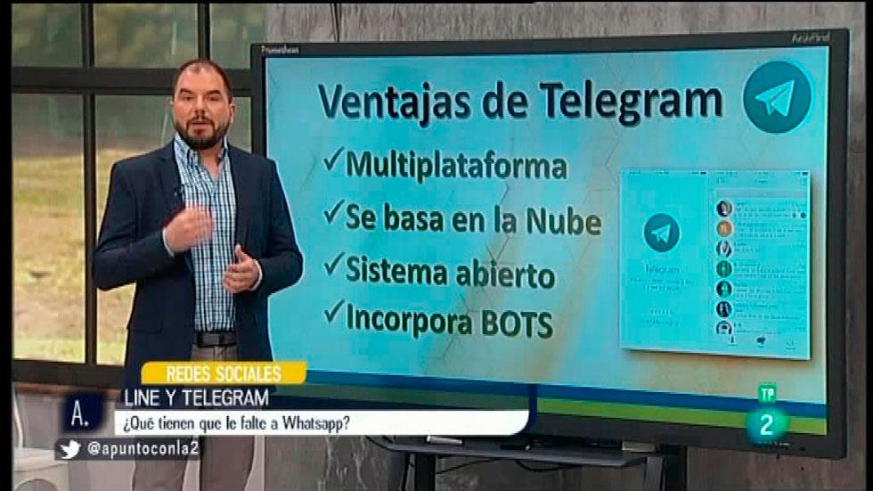 A punto con La 2 -  Redes sociales - Telegram y Line