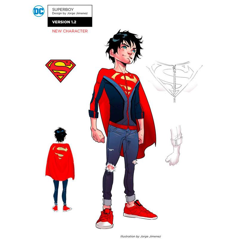 Rediseño de Jorge Jiménez del personaje de Superboy