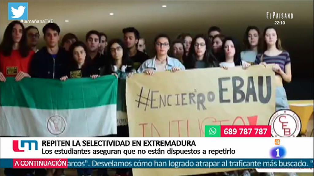 Repiten la selectividad en Extremadura