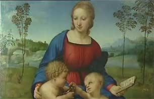 Acaban la restauración de la Madonna del Jilguero de Rafael