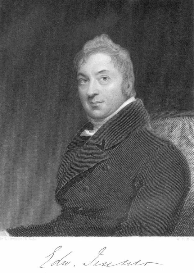 Retrato del médico británico Edward Jenner