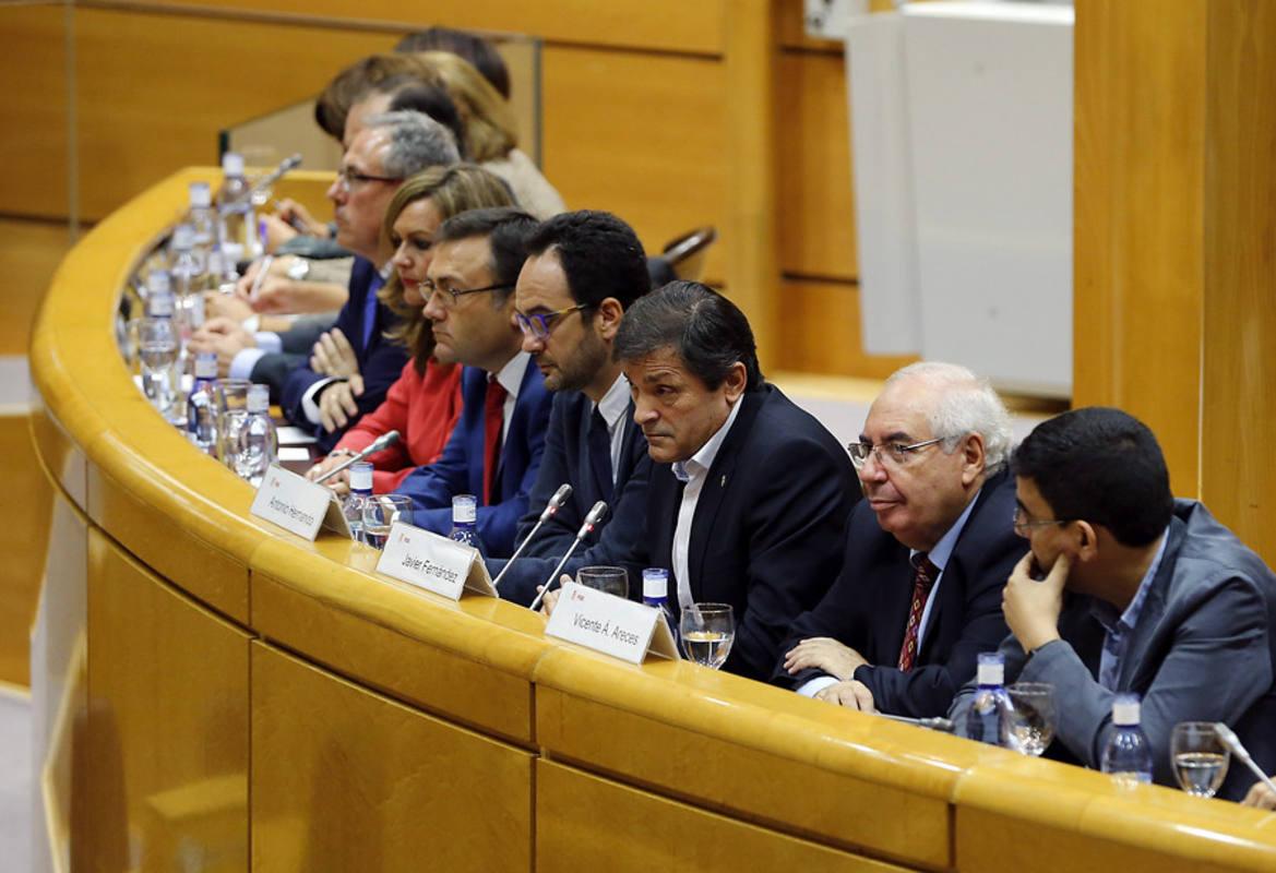 Reunión del grupo socialista en el Senado