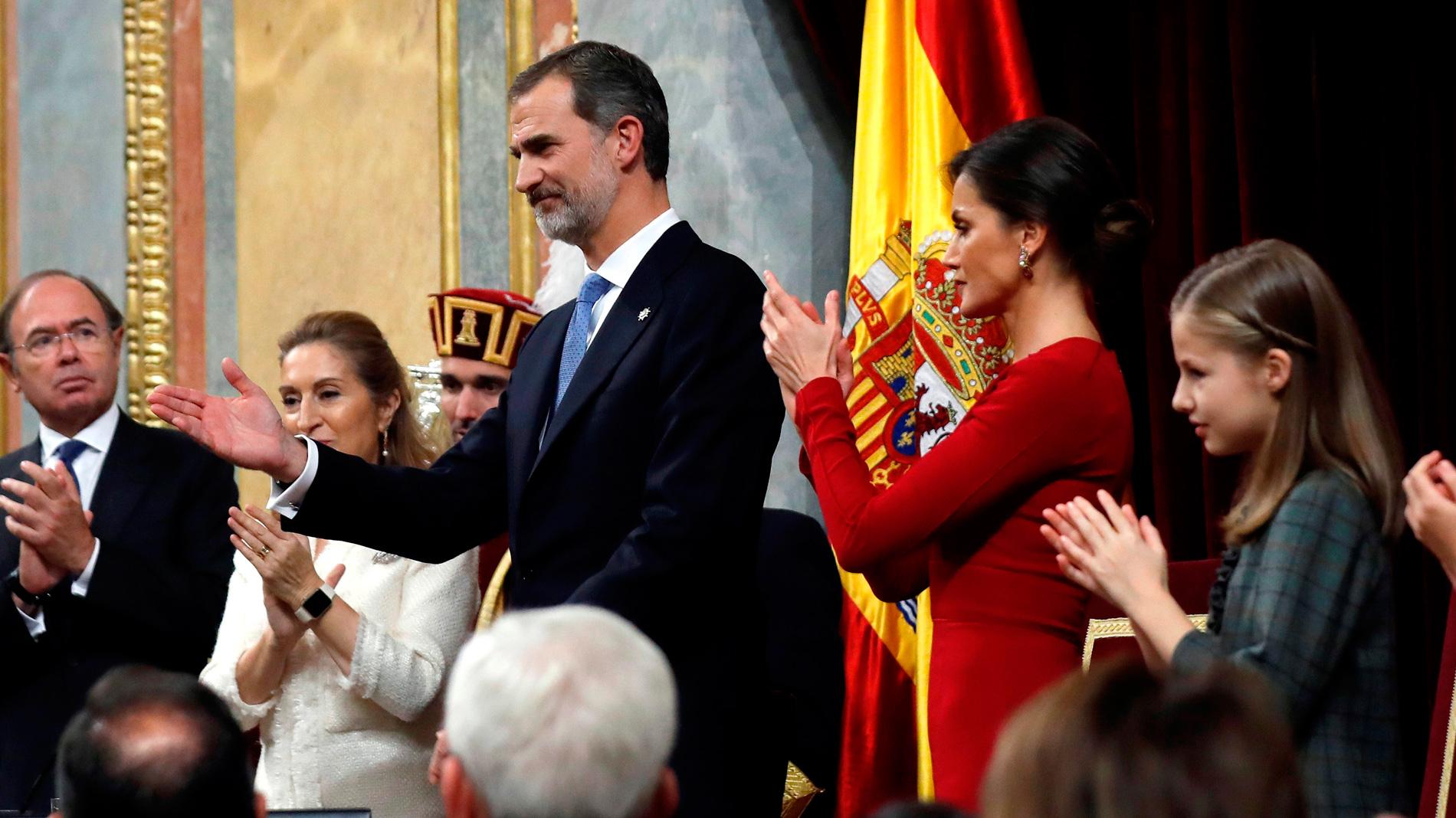 """El rey llama a """"preservar"""" los valores constitucionales y une la Monarquía a la """"democracia y libertad"""" de España"""
