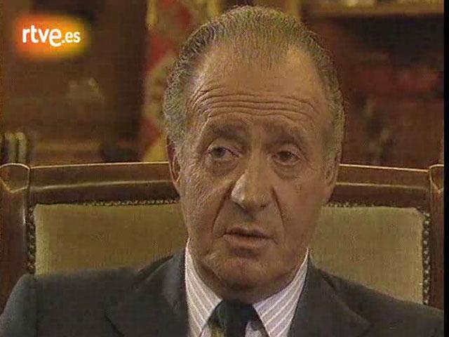 El rey, don Juan Carlos, se refiere, por primera vez, al 23-F
