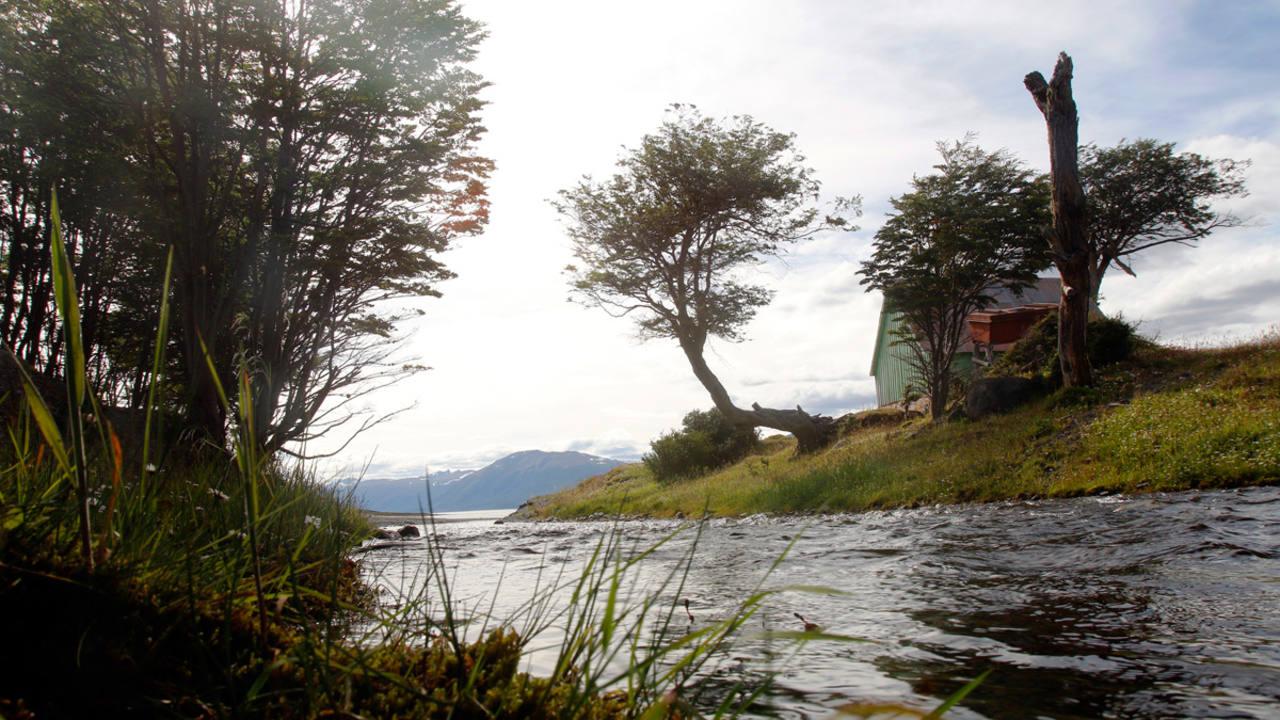 El río Róbalo en el Parque Etnobotánico Omora, en la ciudad de Puerto Williams
