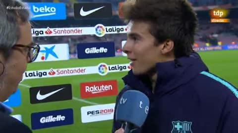 """Riqui Puig: """"Jugar en este campo es un sueño hecho realidad"""""""
