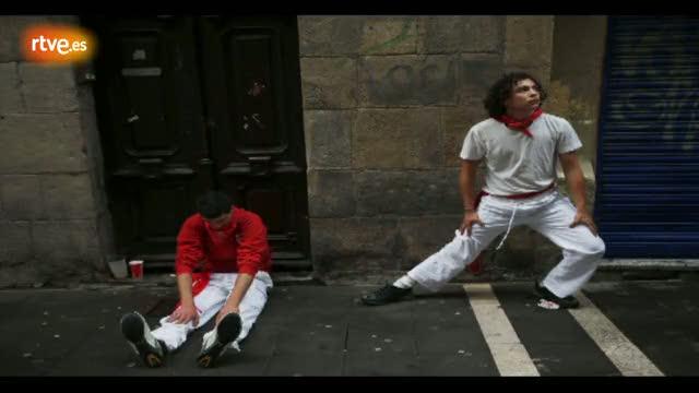 RNE te narra el quinto encierro de San Fermín 2012 en imágenes