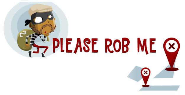 El servicio online 'Please Rob Me' (Róbame, por favor) no hace sino evidenciar con un poco de humor uno de los riesgos que supone compartir públicamente en Internet la geolocalización.