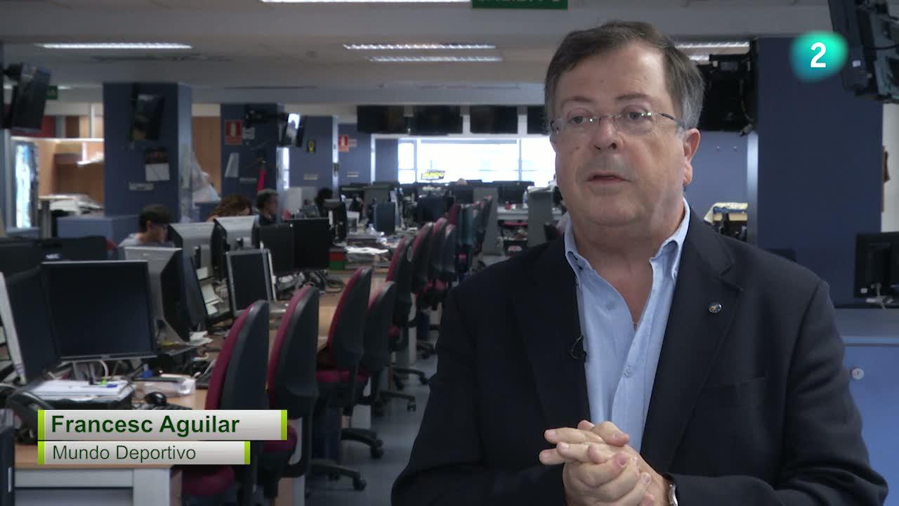 El Rondo parla amb el periodista del Mundo Deportivo, Francesc Aguilar