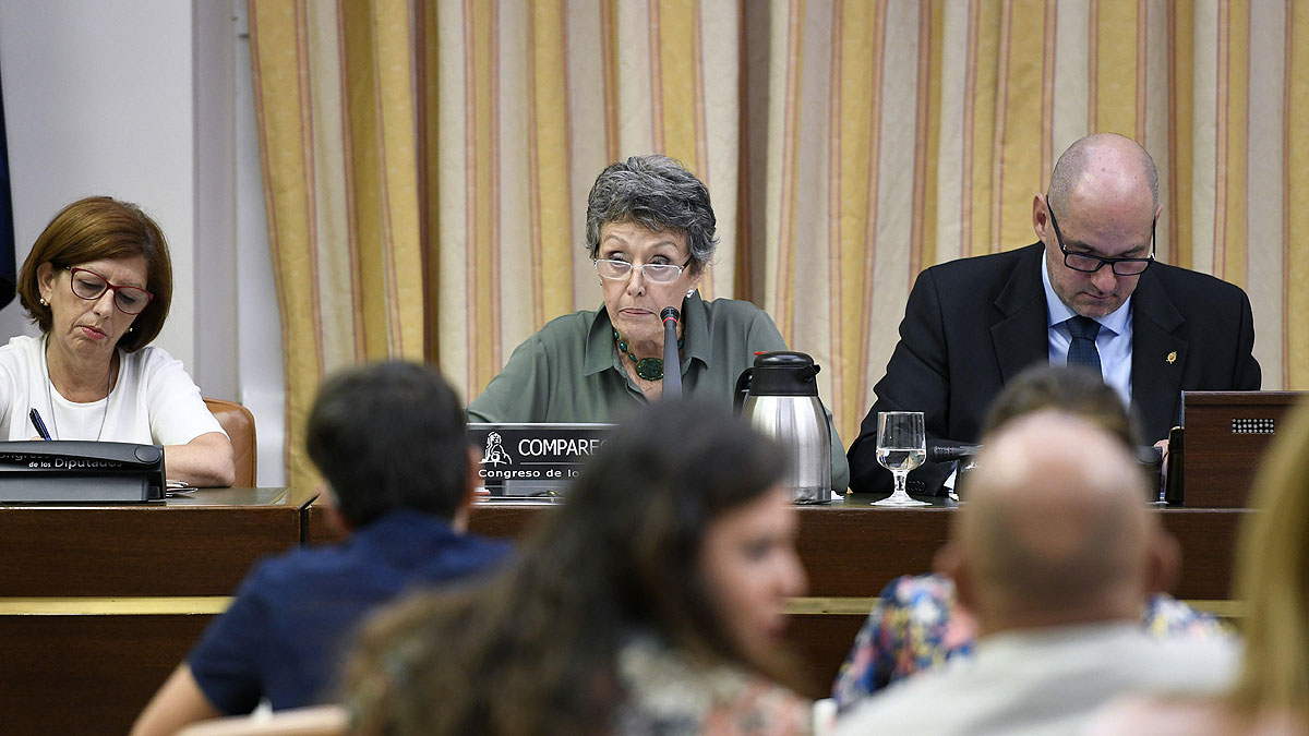 """Rosa María Mateo defiende en el Congreso su libertad e imparcialidad y niega una """"purga"""" en RTVE"""