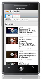 Rtve A la Carta, también en Windows Phone 7