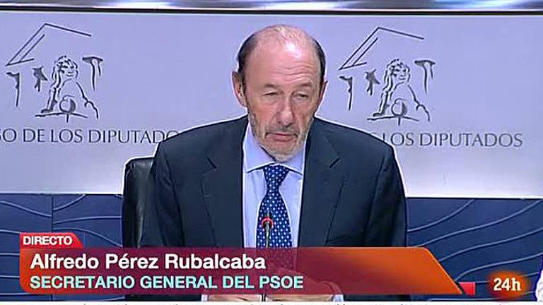 """Rubalcaba pide a Rajoy afrontar """"el problema con Cataluña"""""""
