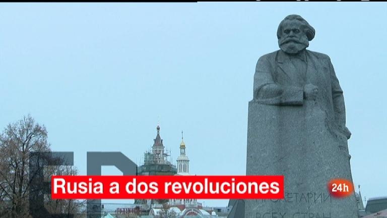En portada - Rusia, a dos revoluciones