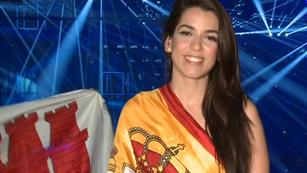 """Ruth Lorenzo: """"Me siento feliz y orgullosa de llevar esta bandera, sentir a mi gente y ser española"""""""