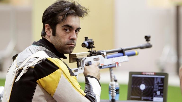 Saavedra, la primera medalla del tiro paralímpico